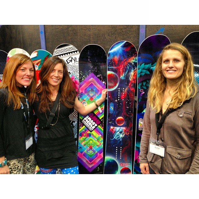 Stoked to catch up with #B4BC friend & long-time supporter, Barrett Christy, at #SIA14. That cosmic unicorn ride in the middle is next year's #BPro model. Each year proceeds from Barrett's pro model benefit our programs! Thank you @barrettcc &...