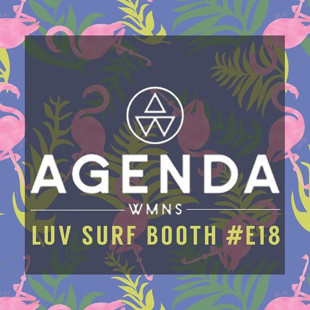 2 DAYS UNTIL @agendashow! Visit us in @agendawmns BOOTH #E18. #agendashow #agendawmns #luvsurf #LongBeach