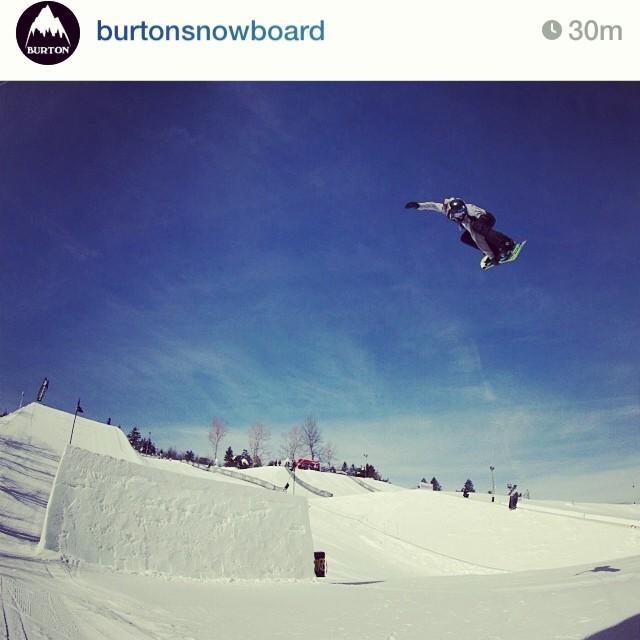@burtonsnowboard showing some love to team rider @_lukewinkelmann ... He won the burton junior us open qualifiers today! He is the definition of #happyshredding !!! #stzlife #professionaloutsider #snowboard @burtonsouth @edgeoworldnc
