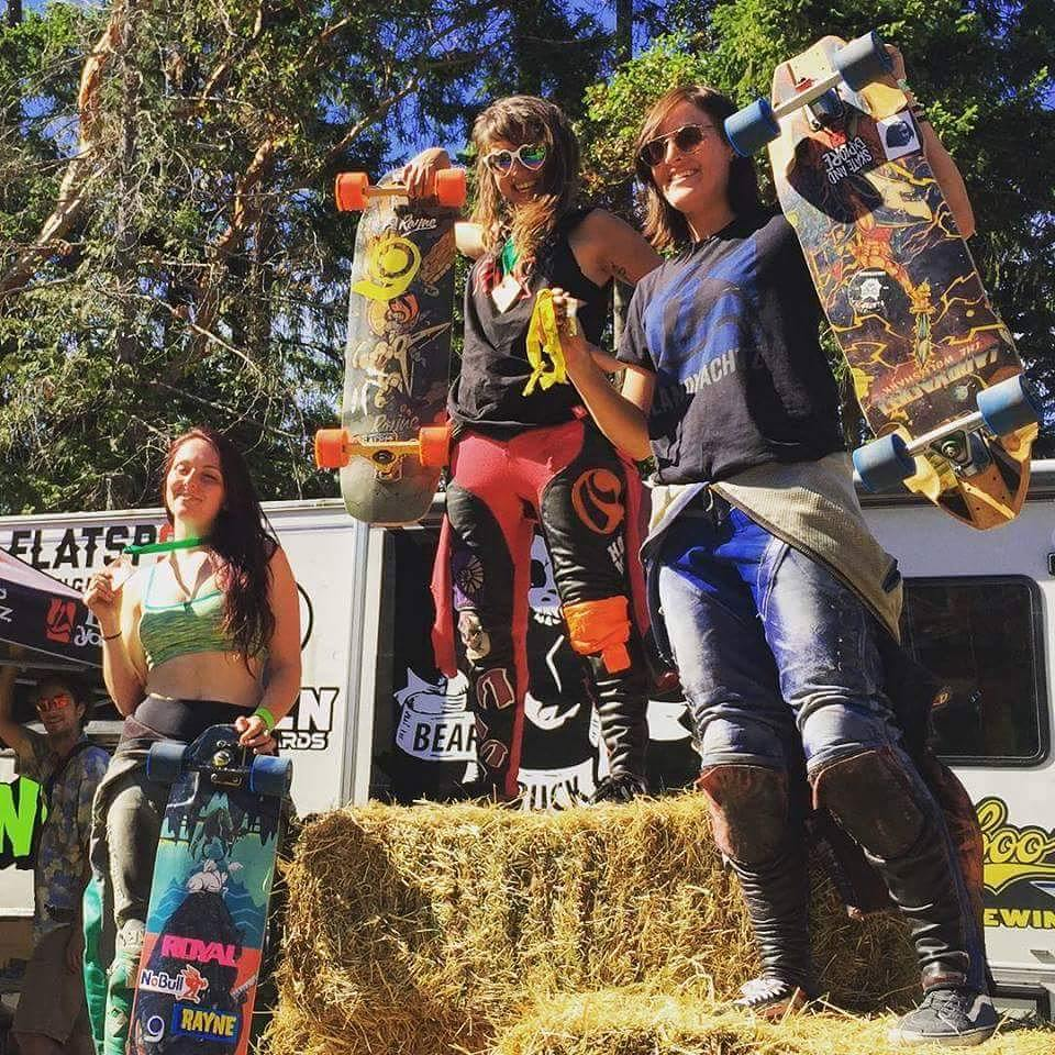 @chelagiraldo just won the #saltspringslasher women's division with @annaoneill trailing not far behind! These girls are killing it this year!
