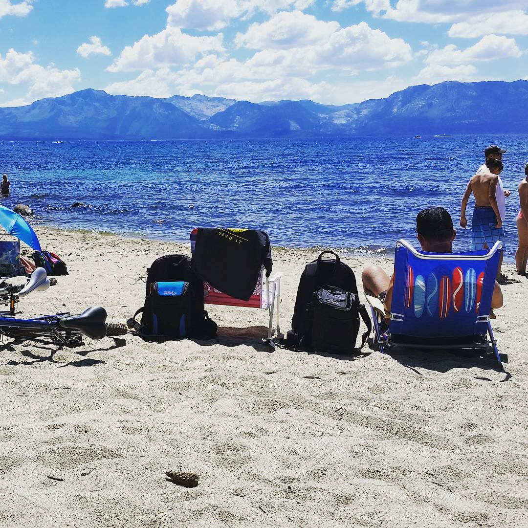 We're rolling #4thofjuly weekend into Monday. Hope you're able to get outside today too! #beach #getoutside #biking #laketahoe #backpacks #coolers #graniterocx