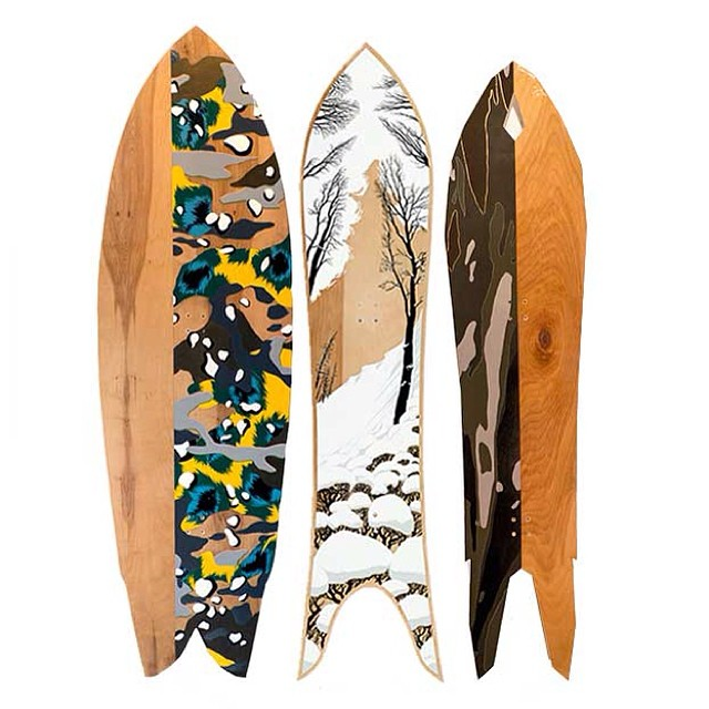 NEON DAZE & WINTER WAVES @asymbol and @springbreaksnowboards announce a collaboration of epic proportions: 17 one-off powder boards designed by a legendary group of riders and artists. Built by @mikeparillo and @coreysmithsimulacrum Gallery Exhibition:...