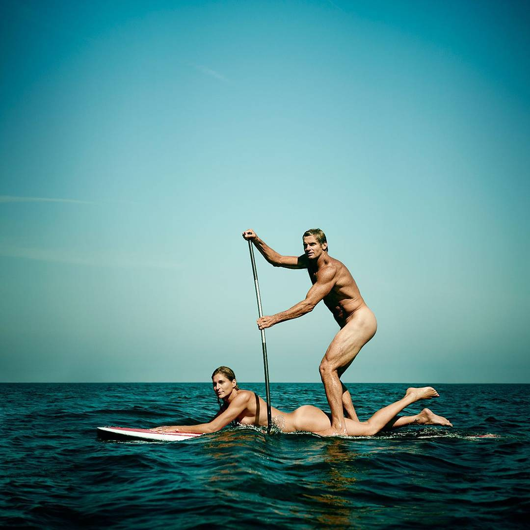 """Surfing isn't a career.  It's a lifestyle.""-@lairdhamiltonsurf #BodyIssue ("