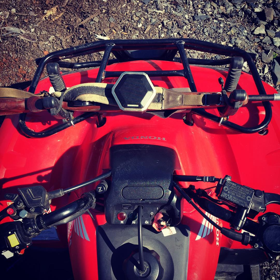 If you have a gun rack mounted to your ATV you can mount a #boombotPRO #killinit #alaska