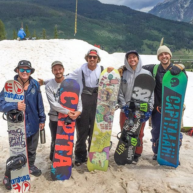 Snowboarding in the summer? In Colorado?! Hard to imagine but it's going down right now at @woodwardcopper with the @videograss homies!