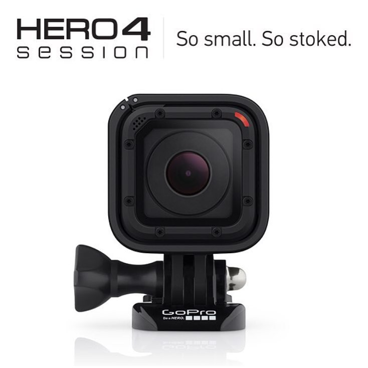 Our friends at @gopro just dropped this little guy, the Hero4 Session... The smallest, lightest, most convenient camera yet!  #GoPro #Hero4Session GoPro.com