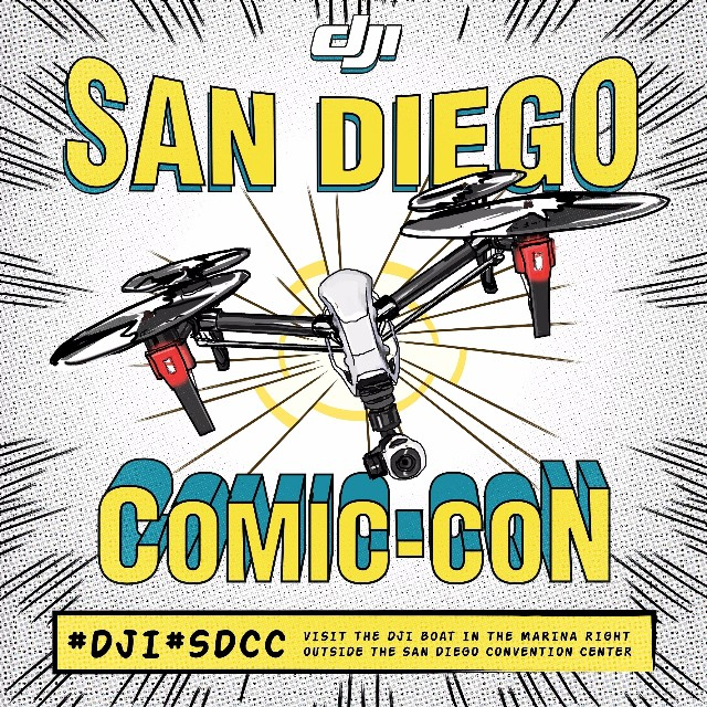 #Marvel or #DCComics? #Anime or #StarWars?  Whatever you dress up in, we'll see you at the #DJI boat just outside #SDCC. Dress in your favourite #cosplay outfit and snap a pic with the #Phantom3 to be featured on our social channels!  See more:...