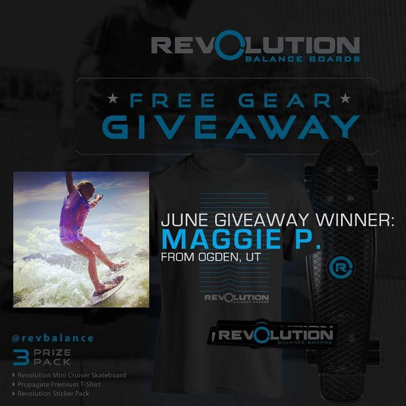 We were stoked that our June #revbalance giveaway went to a rider who never quits and is out there all seasons progessing! Maggie Phipps @snowboarder1247 from Ogden, UT congrats on being our June 2015 winner.  #findyourbalance #balanceboards #madeinusa...