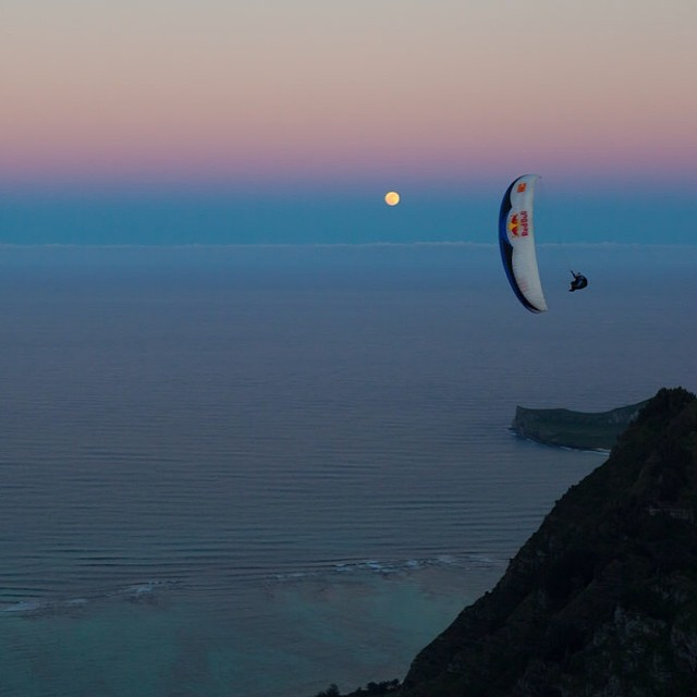 Night flight. #paragliding #adventure