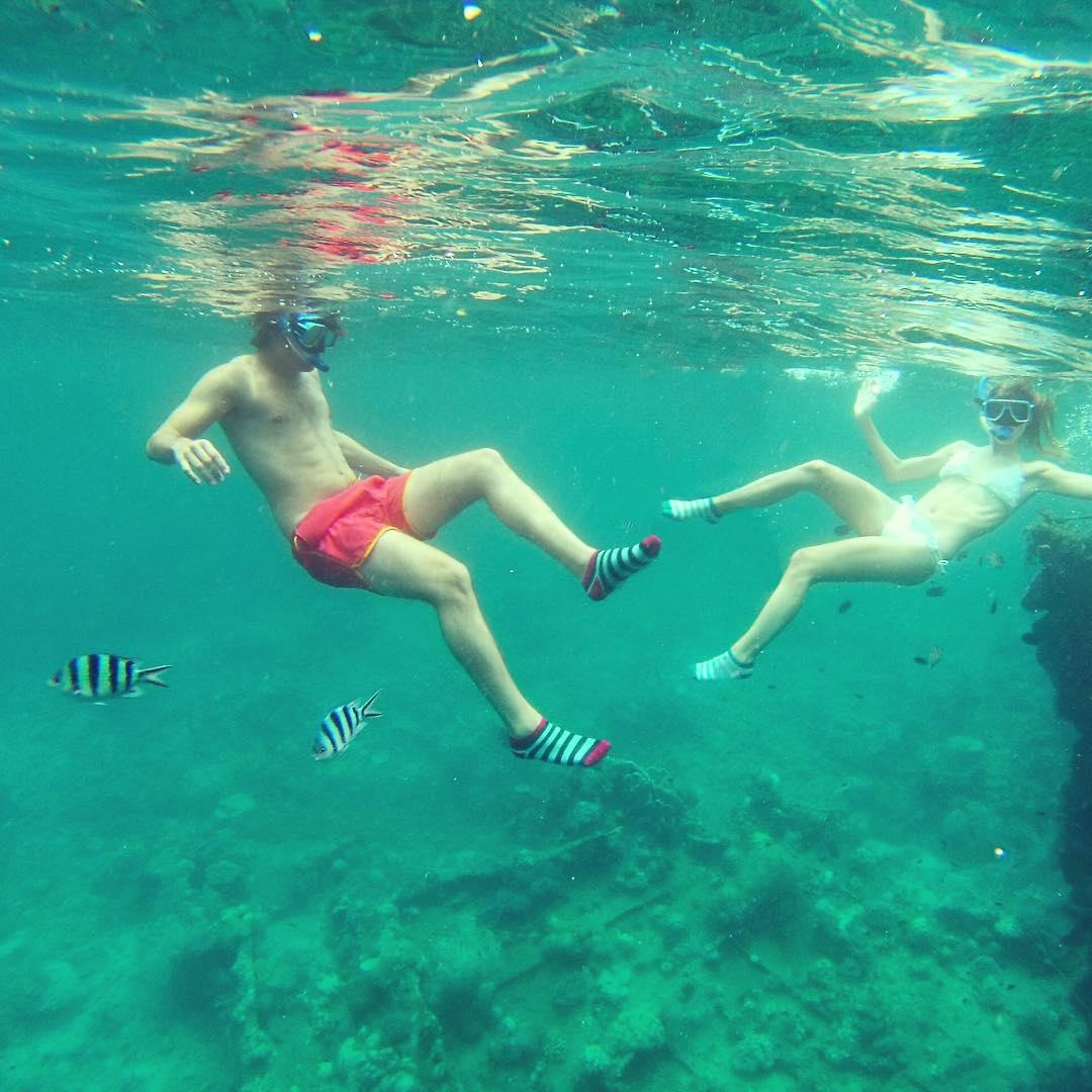 #SnorkelingConOnda #MediasConOnda #PecesATonoConLasMedias #Filipinas #Socks #Style #Fun
