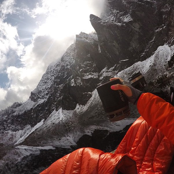 Every morning @tiarevincent takes her coffee black with an extra shot of EPIC MOUNTAINS ☕️