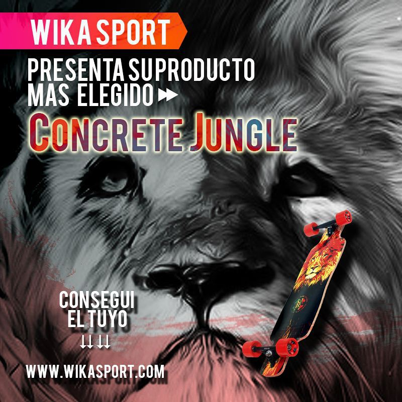 "Concrete jungle ""La mas elegida"" sigue disponible con código 30%Off!  www.wikasport.com  #andarxandar !!! #Longboard #longboarding #longboards #longboarder #longboardlife #longboarders #longboard4life #longboardlove #longboardsworld #longboardlifestyle..."