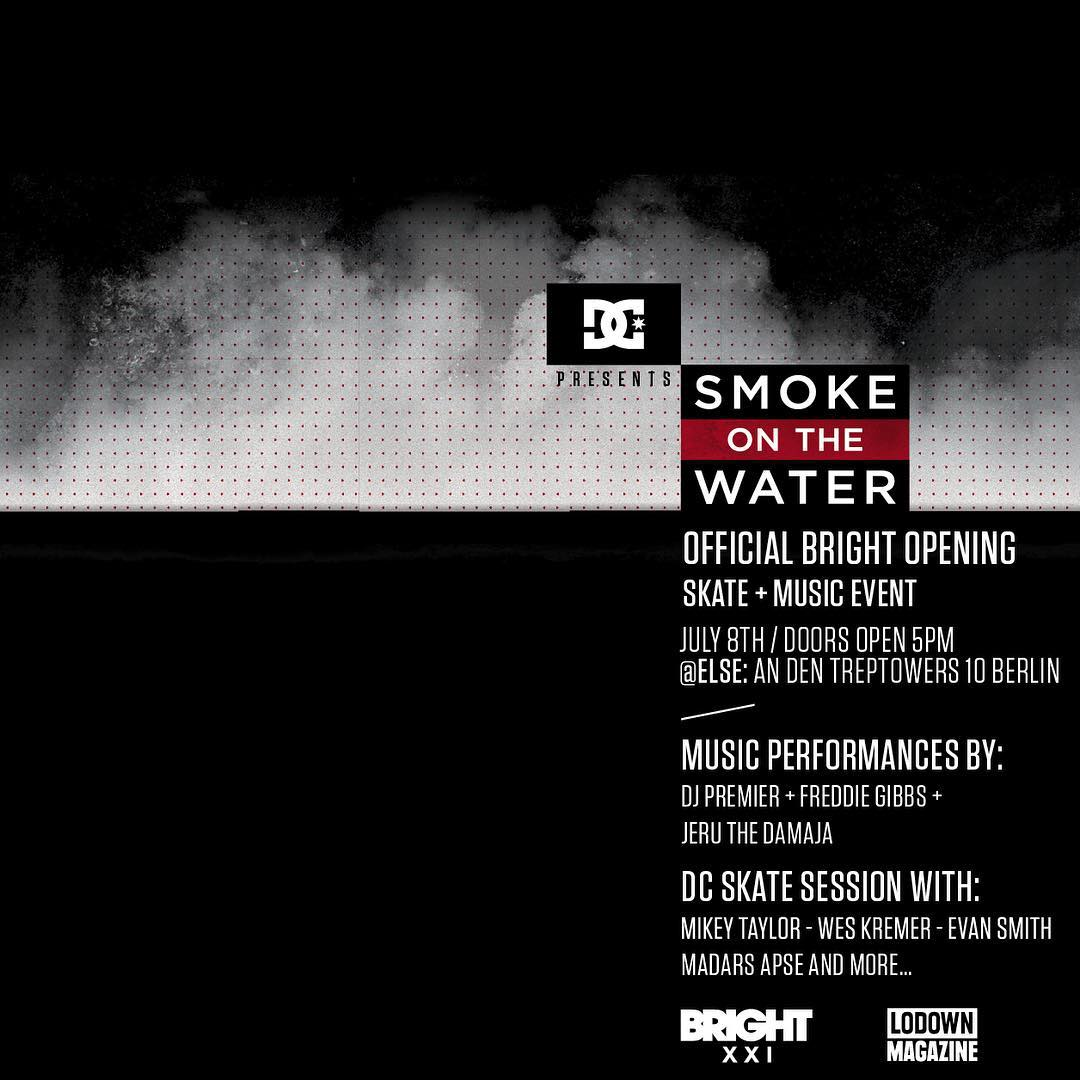Don't miss the official @Brighttradeshow opening party, DC's Smoke on the Water event, on July 8th in Berlin, Germany. @mikeytaylor1, Wes Kremer, Evan Smith, @madarsapse and more will compete in a best trick contest along with musical performances by...