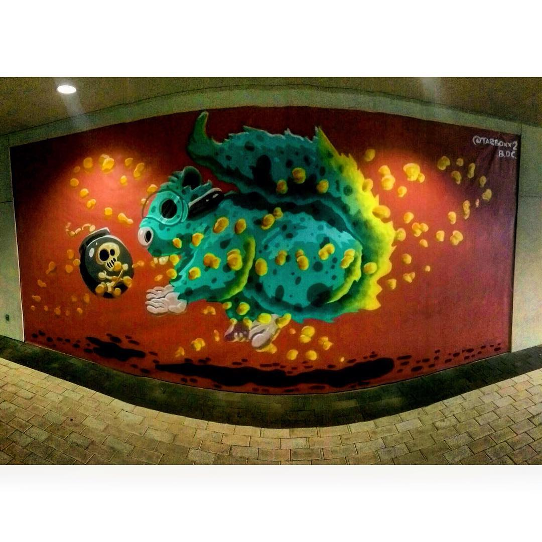 @tarboxx2 #bdc • • #houstontx #Htx #texas #tx #spratx #tarboxx #atx #mural #streeart