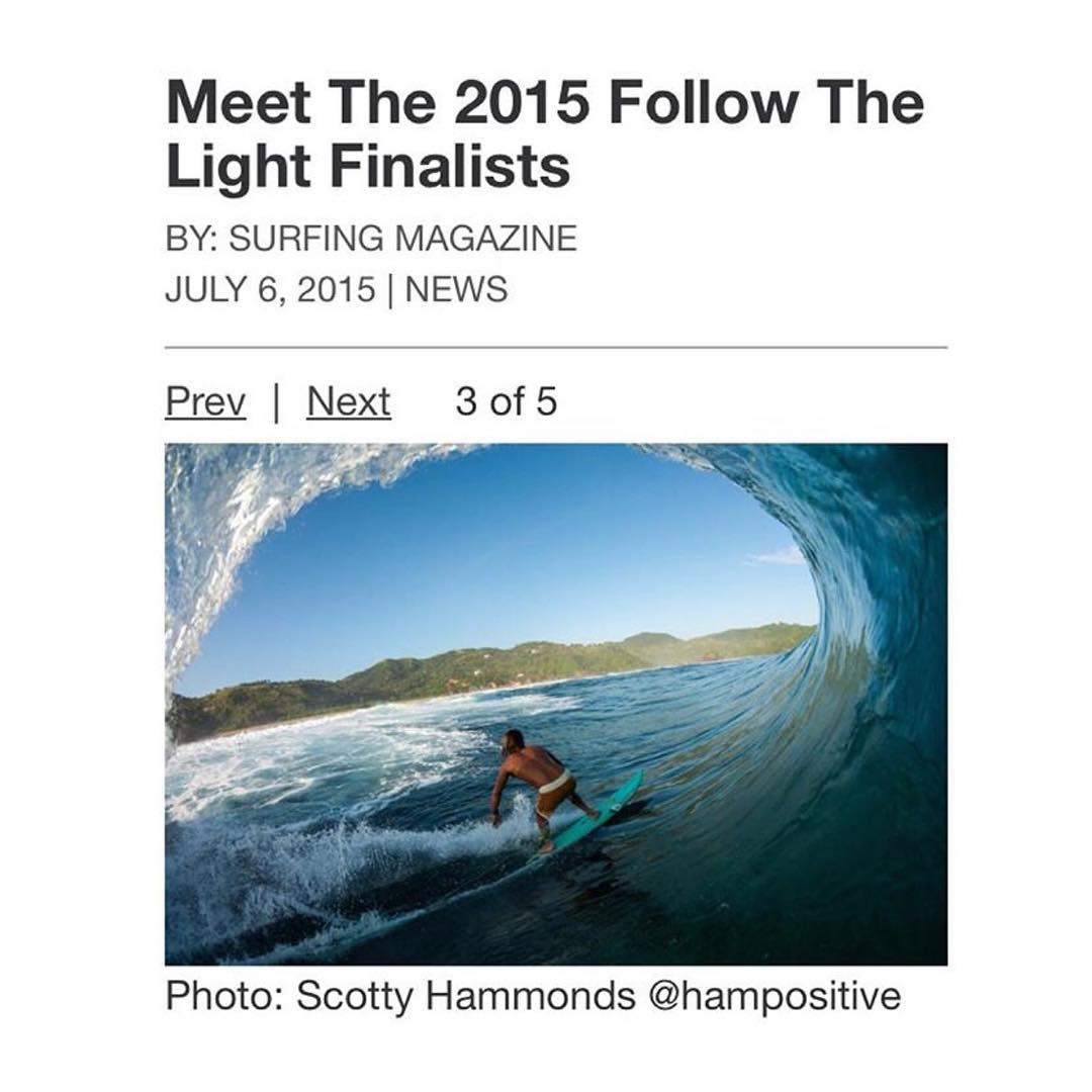 The Hoven team wants to give a huge congrats to our close friend @hampositive (Scotty Hammonds) for being a finalist in the 2015 Follow The Light contest. Winner will be announced July 28th during the U.S. Open of Surfing. Yeeeeew!!!