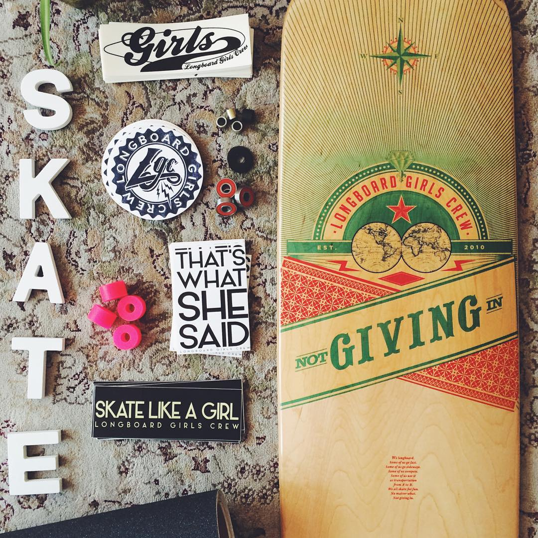 Custom your board, helmet or room with some #longboardgirlscrew stickers! Get some at longboardgirlscrew.com/shop  Also, our new board is pretty sweet, isn't it?  #skatelikeagirl #thatswhatshesaid #girlswhoshred #womensupportingwomen #lgc #stickers...