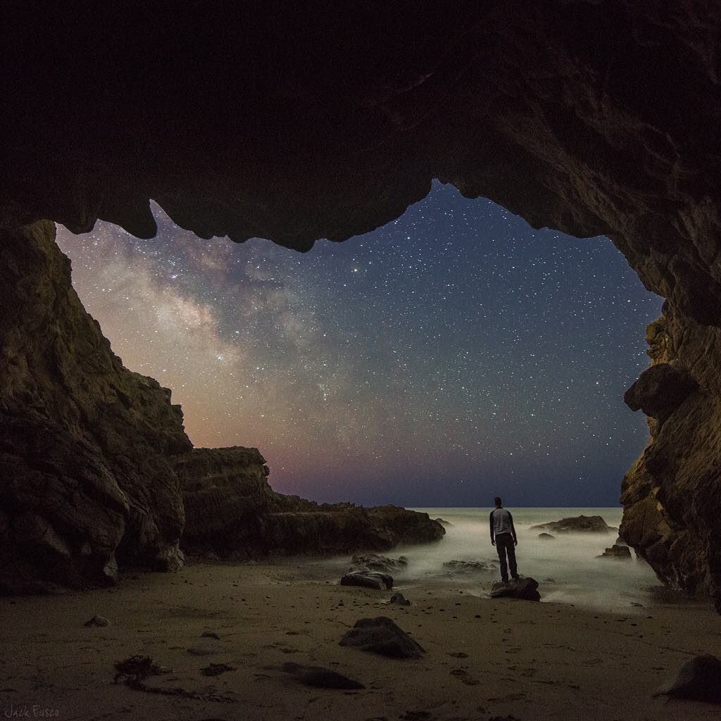 From @jackfusco, an amazing time-lapse of the Milky Way from a Malibu sea cave.