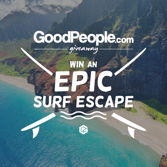 Our friends at GoodPeople.com put together a giveaway so big that the only word to describe it would be EPIC. They teamed up with @AlaskaAir, The @Surfrider Foundation, @sustainsurf and multiple GoodPeople Marketplace brands to bring you An...