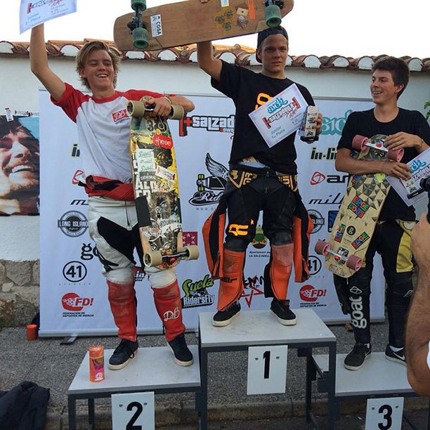 Congrats to team rider @thecontee for taking 2nd at La Salzadella in the junior division. #spain #dblongboards #longboarding