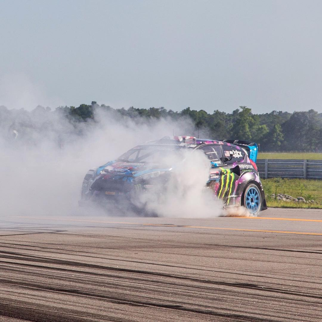 "This is @kblock43 making some victory donuts after winning @redbullgrc #racethebase this past Sunday. By now, we hope you know that means it's #goldstickertime. Log in on #hoonigandotcom enter the code ""gold"" at check out and get a free gold sticker...."