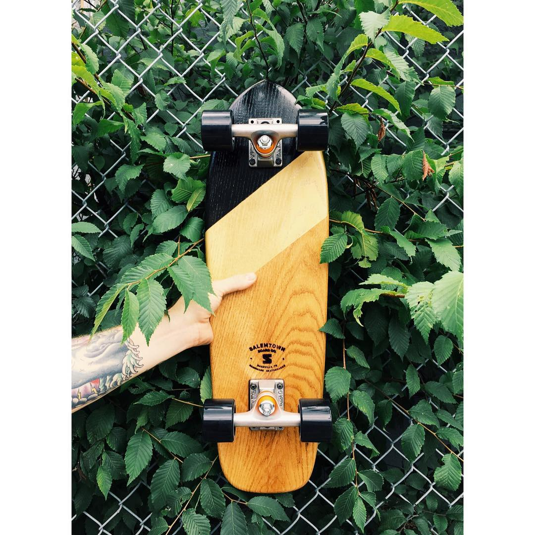 That gold looks good. . . #handmadeskateboard #Nashville