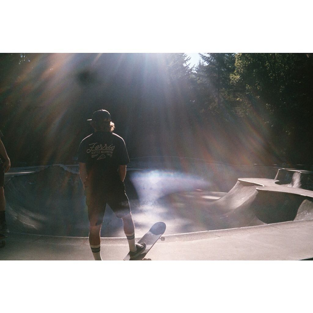 Serious sunshine vibes from @austensweetin at the Bainbridge Bowl. Get outside, skateboard, explore, and remember to take photos!