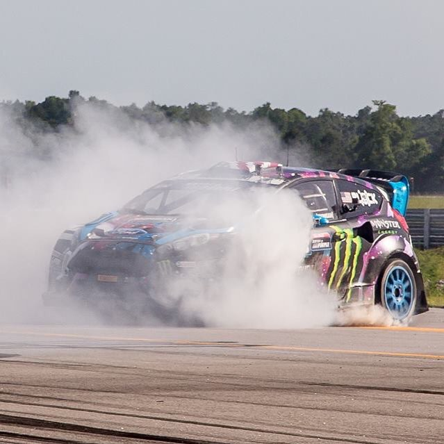 "Hoonigan gold sticker time (from my win at Global Rallycross round 4 in North Carolina) is almost over. Log in on #hoonigandotcom enter the code ""gold"" at check out and get a free gold sticker, which is only available when a Hoonigan driver wins a..."