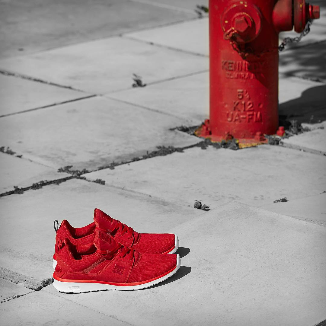 The Heathrow in red. Engineered for performance, designed for life. dcshoes.com/heathrow #DCShoes #DCHeathrow