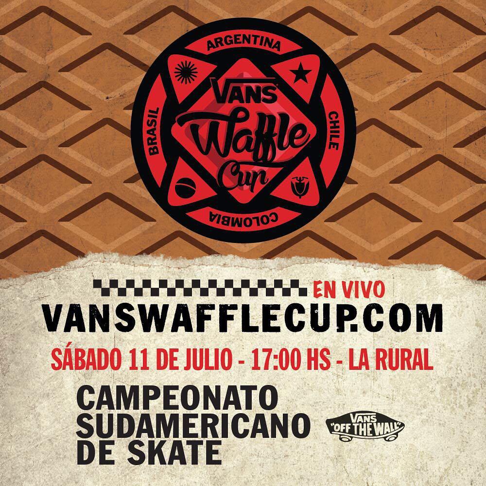 Los 12 mejores skaters de la región, #VansPropeller en el proyector, food truck, un shop de Vans y varias sorpresas más. 11/07/2015 - #VansWaffleCup