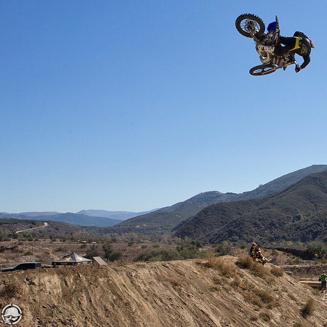 Stoked to see this dude @KennyTacoBell back on the bike after his big #Femur break in