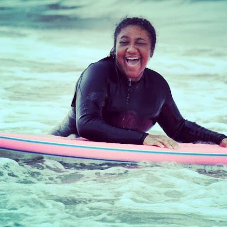 There's nothing better than a surfboard and a smile! #summer #surf #surfing #surfsup #surfboard #surfer #surfergirl #beach #ocean #water #waves #joy #happiness #smiles #fun #youth #community #citylife #mentor #volunteer #makeadifference...