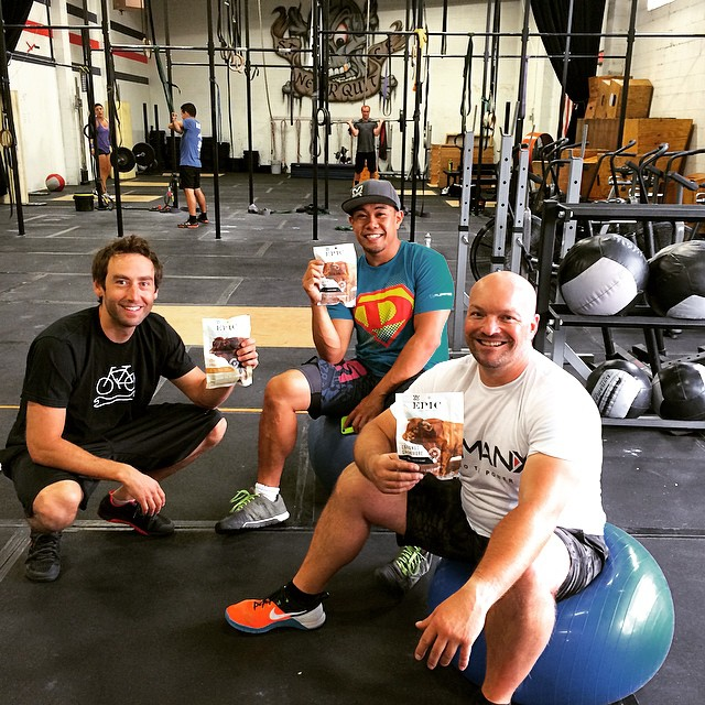 Sharing some of the love from @epicbar with that @stcrossfit crew! The perfect snack for a gnarly work out. Hope everyone has a great day and don't forget to go eat some meat :) #coconut #freerange #wildandfree @epicbar #epicteam #run #jump #play #send...