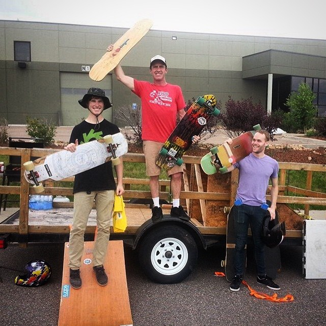 Props to Will Harris from @bc.boulder for getting 3rd at the @liqwoodboards outlaw on his #Cantellated #Tesseract #loadedboards