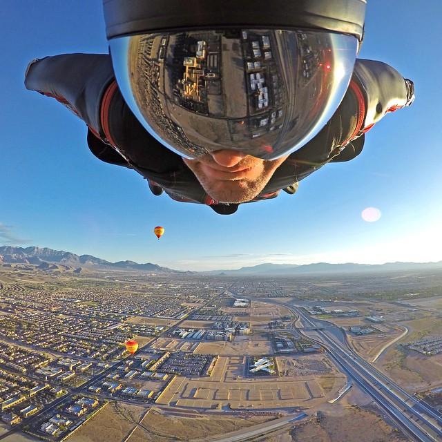 Wingsuit Wednesday! Photo: @savagesac GoPro HERO4 | GoPole Arm #gopro #gopole #gopolearm #skydiving #wingsuit