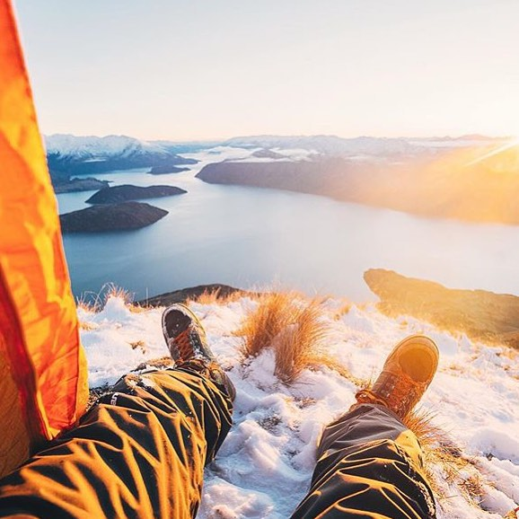 Repost from @lebackpacker summiting Roys Peak in New Zealand. #getoutthere #adventureworthy #lakewanaka #lakewanakanz @lakewanakanz