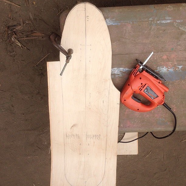 Team rider Chad Lybrand--@ragnars_world  shaping new wood for y'all! Stay tuned!  #chadlybrand #bonzing #sanfrancisco #shapers #artists