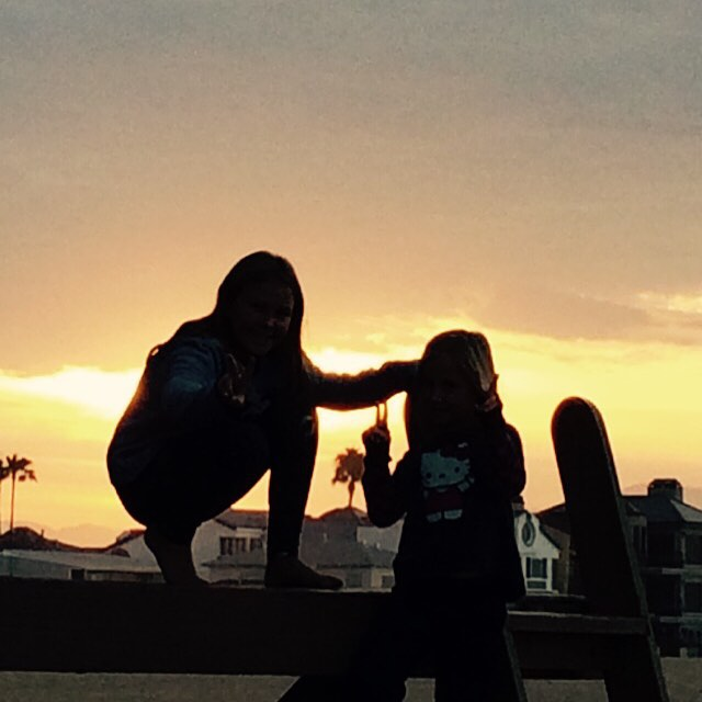 Peace out! #uluLAGOON #theworld #nextgen #love #newport #ca #beachculture #cantstopusnow #riseaboveanything #hellokitty #peace
