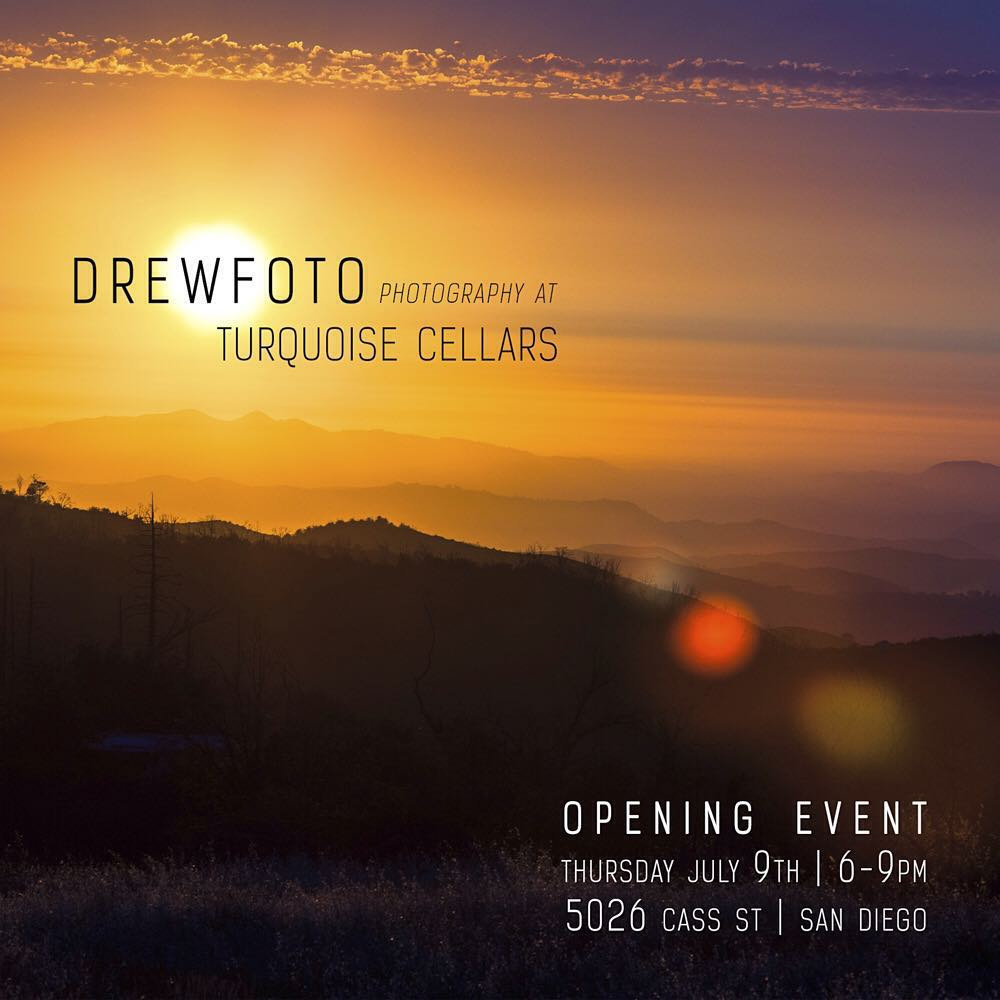 Join us tomorrow night at Turquoise Cellars in Pacific Beach to celebrate the opening night of Tribe photographer @drewfoto and his amazing work. We've been fortunate and lucky to have this legend behind the lens for us since the beginning. His shows...