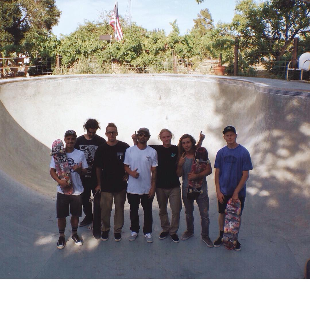The squad at a secret location on the #SK8NORTH tour. Headed to Shasta tomorrow!