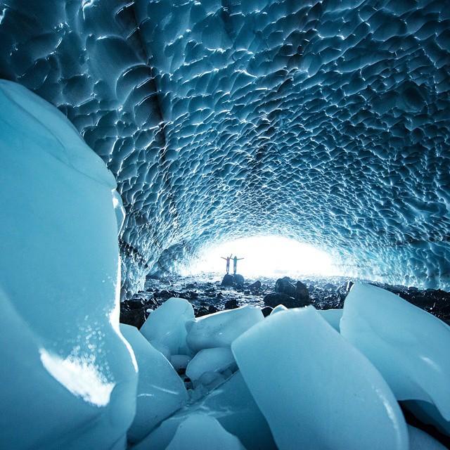 The dangerous yet beautiful Big Four Ice Caves, Washington. #GetOutStayOut  Photo: @travisburkephotography