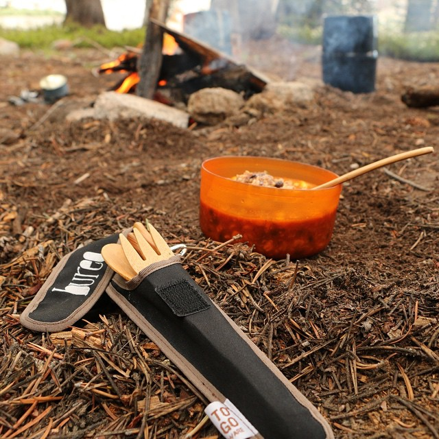 Bamboo utensils...a cleaner way to enjoy breakfast in the wild. --------------------------------------- --------It's Plastic Free July, and with our new Bamboo sets you can permanently disconnect from single use utensils. Light weight and easy to...