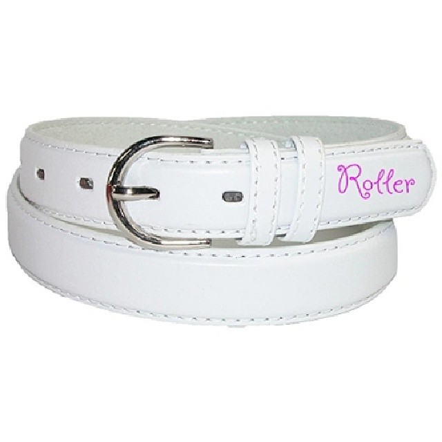 Women's White Belt. Can be found on www.rollerinnovations.com  #surf #snow #skate #surfing #snowboarding #skatboarding #appearal #clothing #roller #innovations #rollerinnovations #eastcoast #westcoast #hawaii #california #newjersey #jersey #igdaily...