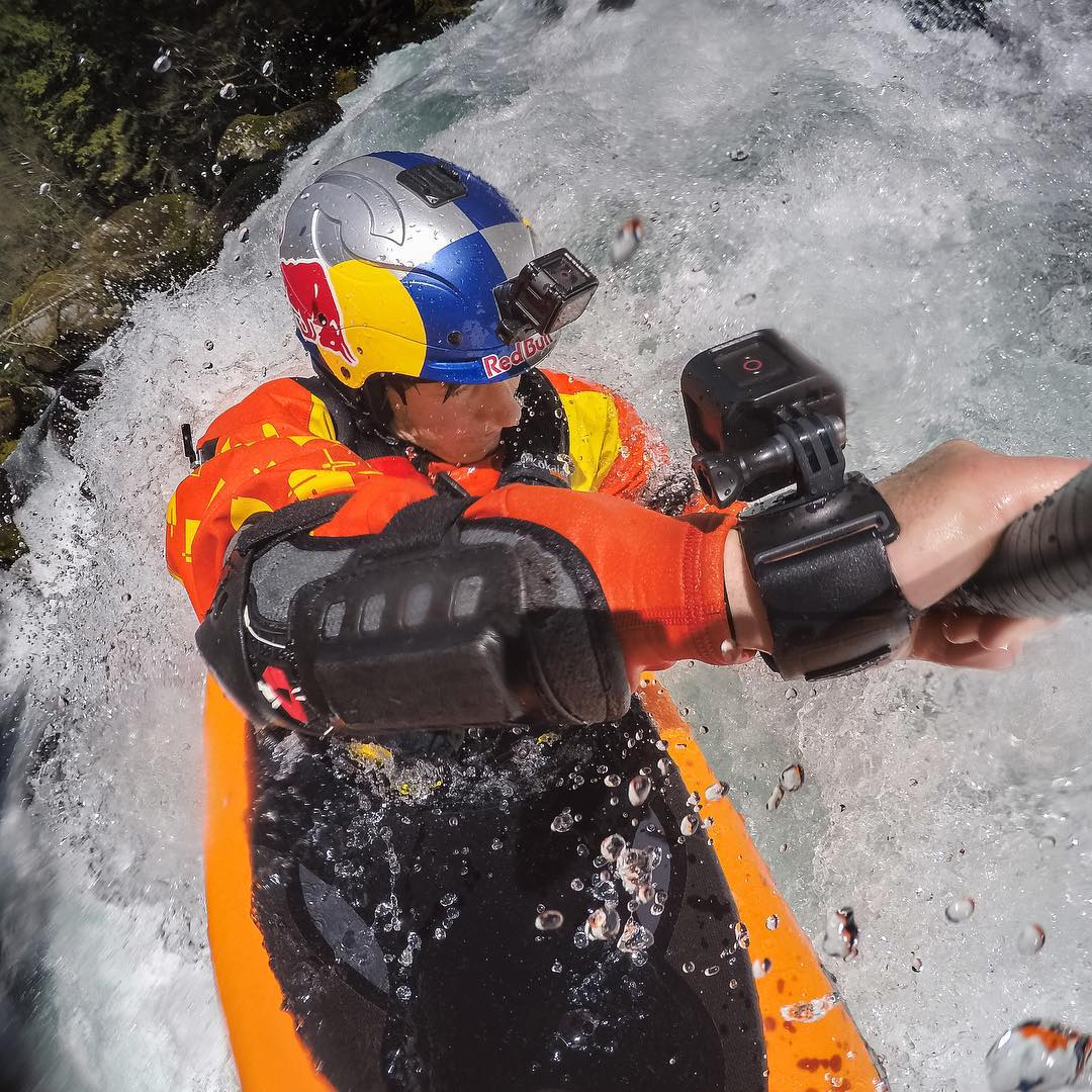 Photo of the Day! @danejacksonkayak tackles some epic rapids. #GoPro #kayak #HERO4Session