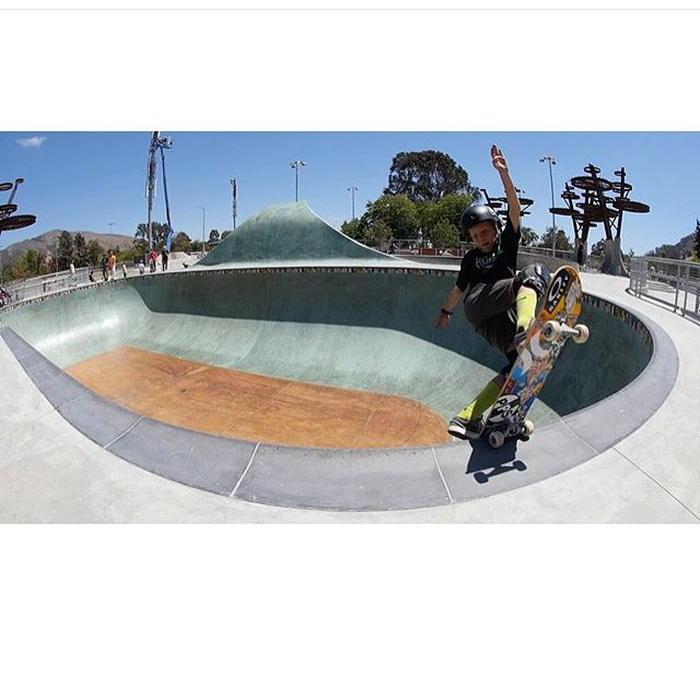 Australian super grom @k33gan Is in California ripping up the parks. Keegan wears the S1 Lifer Helmet. #sloskatepark #keeganpalmer #s1helmets #s1lifer #radskateparks