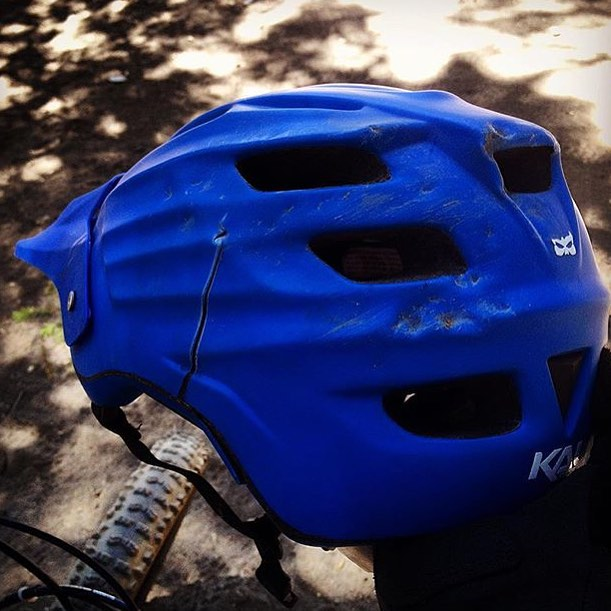 The Maya was released in January and since then, we've seen a number of broken helmets, but @slomeatball takes the metaphorical cake for most damaged helmet.  So glad to hear he is alright!