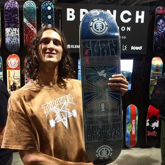 First person to come do a cartwheel at our @agendashow booth gets this fresh board from @starheadbody
