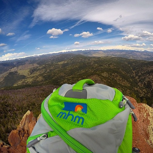 A snap from @zanecovey atop Bear Peak outside of Boulderado. Proud to call this place home. #MHMgear #PacksElevated