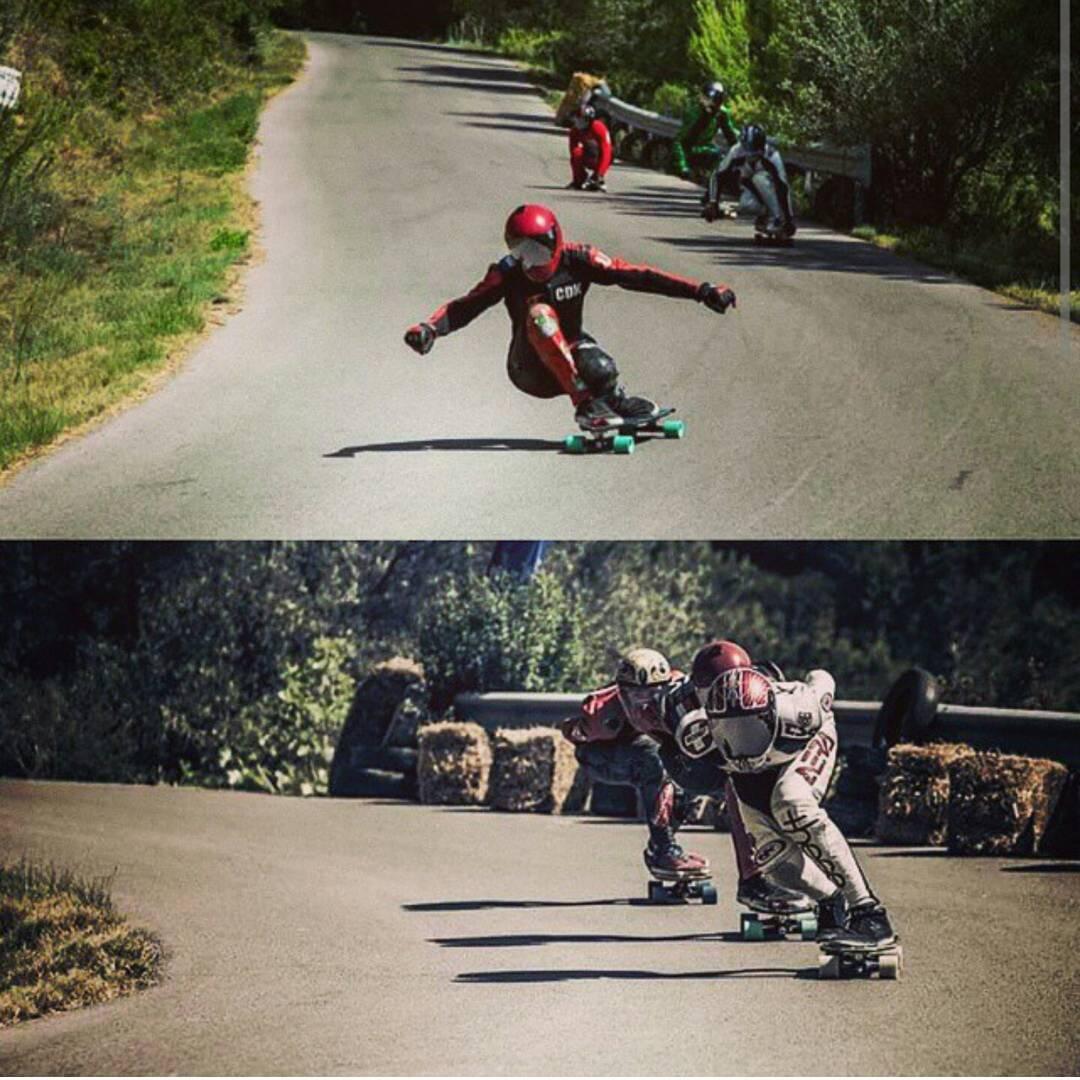 Team rider @yanismarkarian in Spain last week!  Steezing and drafting @aerakrimes. #restlessboards #restlessnkd