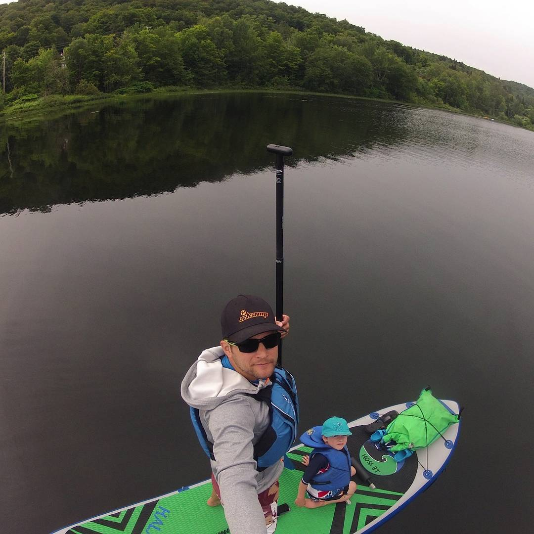 A great shot from a Mike Lanthier, he has a ski camp up in Canada. This was a morning expedition - Montfort, Quebec in Canada. #HalaGear #sup #theweeklyinsta #standuppaddleboard #supwithkids