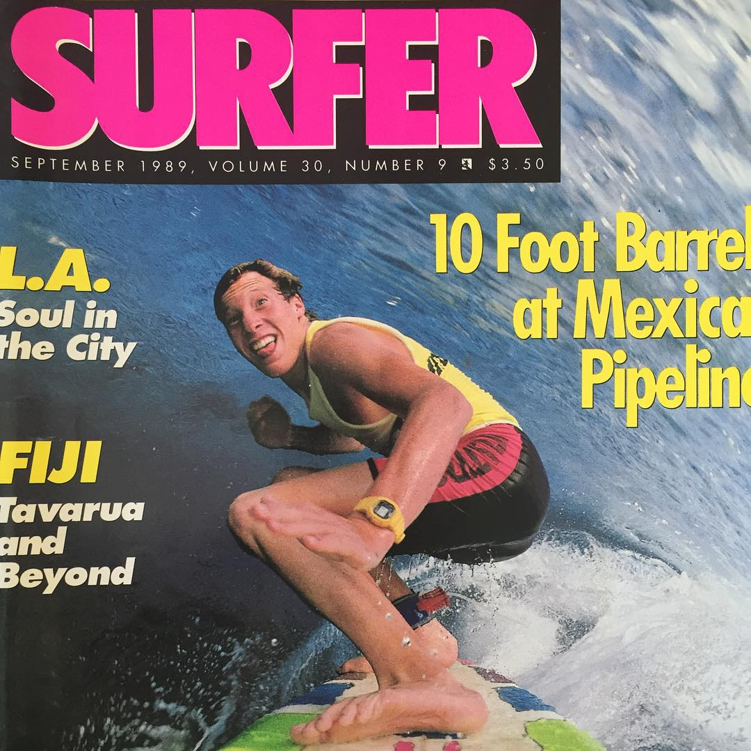 Tbt to Barney on his first @surfer_magazine cover at 19